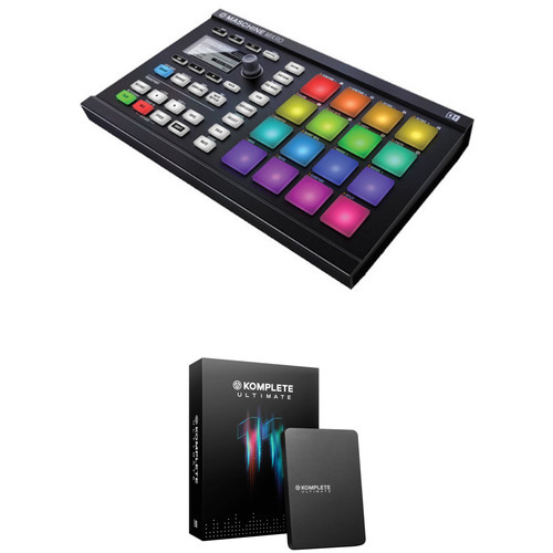 Native Instruments KOMPLETE MASCHINE MIKRO MK2 with KOMPLETE 11 Software (Ultimate Upgrade Edition)