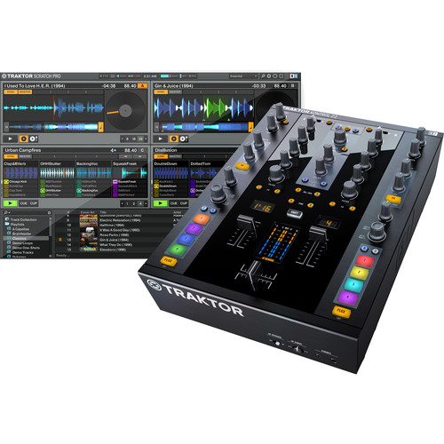 Native Instruments Traktor DJ Kontrol Kit with Z2 Mixer and 2x D2 Controllers
