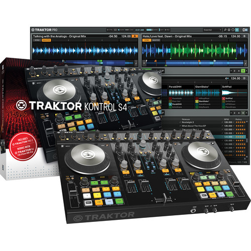 Native Instruments TRAKTOR KONTROL S4-MK2 Kit with DJ Headphones