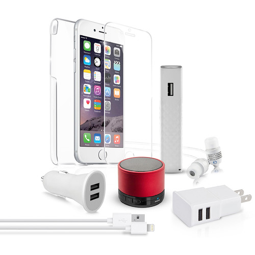Naztech Red Carpet Premium 8 Essentials Kit for iPhone 6/6s