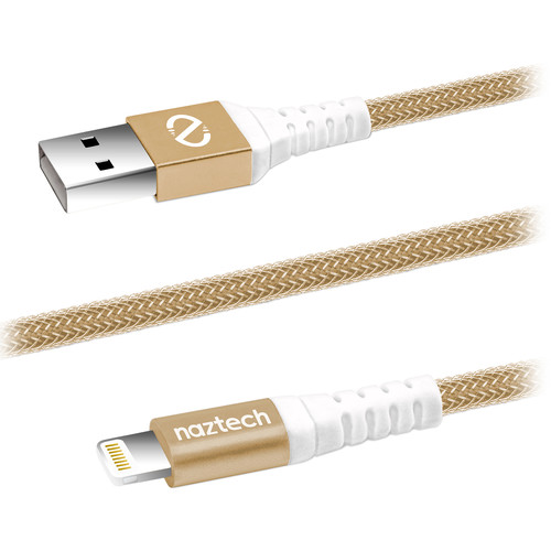 Naztech USB 2.0 Type-A to Lightning Charge & Sync Cable (4', Gold)