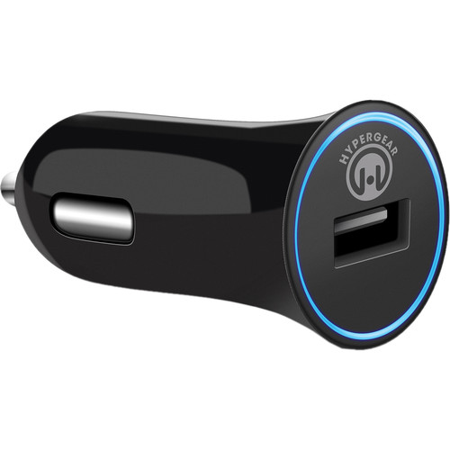 HyperGear HyperGear Rapid Car Charger with USB to Micro-USB Charge/Sync Cable (2.4A, 4', Black)