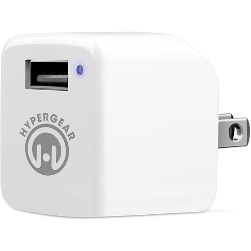 HyperGear HyperGear Rapid Wall Charger with USB to MFi Lightning Charge/Sync Cable (2.4A, 4', White)