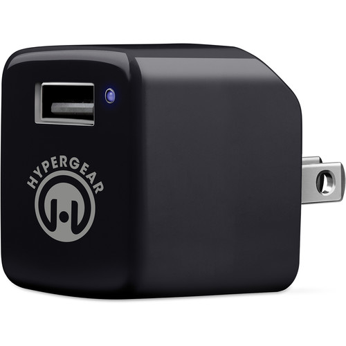 HyperGear HyperGear Rapid Wall Charger with USB to Micro-USB Charge/Sync Cable (2.4A, 4', Black)