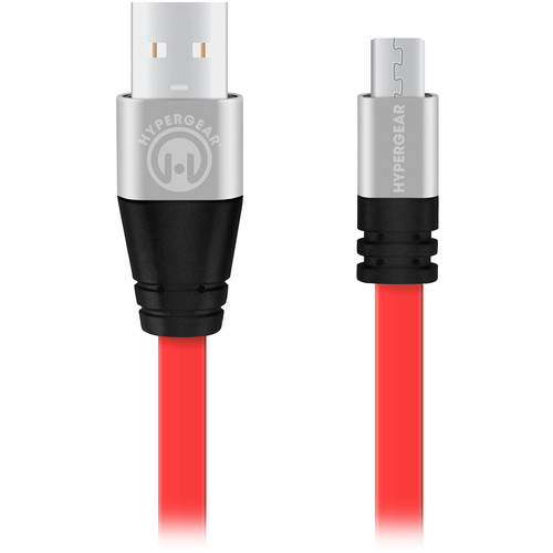 HyperGear Flexi USB 2.0 to Micro USB Charge/Sync Cable (6', Red)