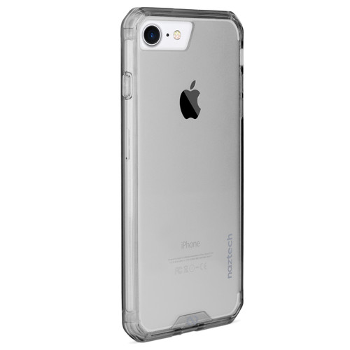 Naztech Hybrid Edge PC+TPU Case for iPhone 6/6s/7/8 (Clear/Smoke)