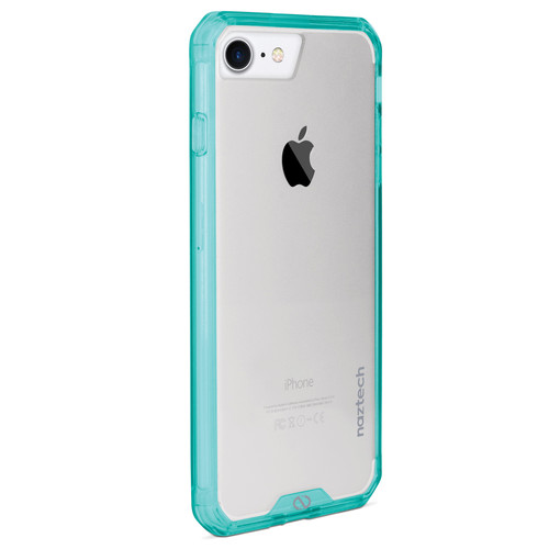 Naztech Hybrid Edge PC+TPU Case for iPhone 6/6s/7/8 (Clear/Teal)