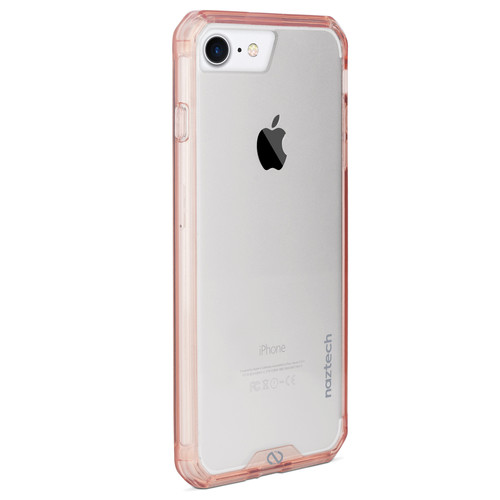 Naztech Hybrid Edge PC+TPU Case for iPhone 6/6s/7/8 (Clear/Rose Gold)