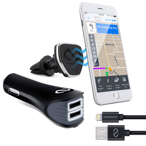 Naztech MagBuddy Safety Essential Car Kit with MFi Lightning Cable