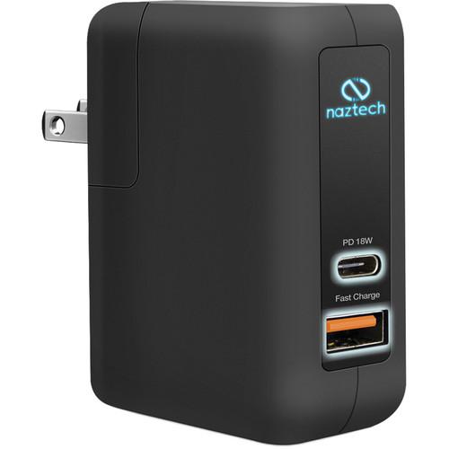 Naztech 25W Dual Port USB Type-C PD AC Adapter