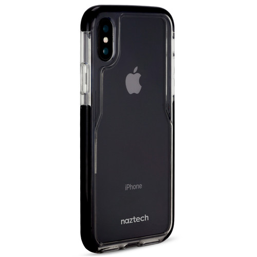 Naztech Edge Series Hybrid PC+TPU Case for iPhone X (Clear/Black)