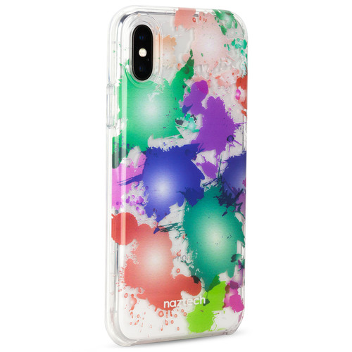 Naztech Spring Series Hybrid PC+TPU Case for iPhone X (Paint Splatter)