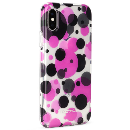 Naztech Spring Series Hybrid PC+TPU Case for iPhone X (Polka Dot)