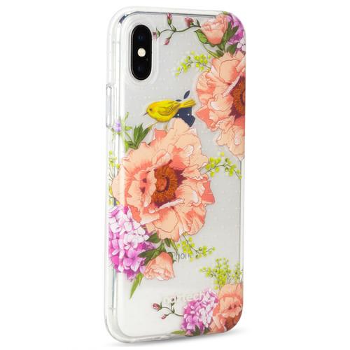 Naztech Spring Series Hybrid PC+TPU Case for iPhone X (Spring Garden)