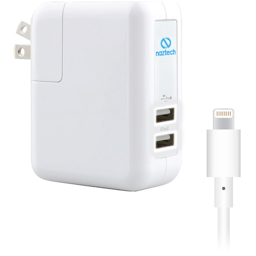 Naztech N422 Dual USB 2.4A Wall Charger with Folding Prongs