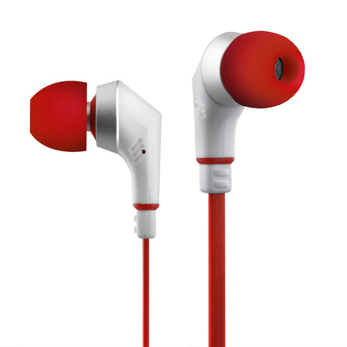 Naztech Noisehush NX80 Stereo 3.5mm Earphones with Microphone (Red/White)