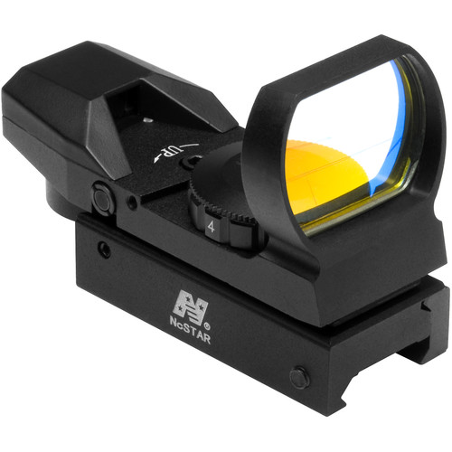 NcSTAR 1x33 Red Dot Reflex Sight (4 Reticles, Black)