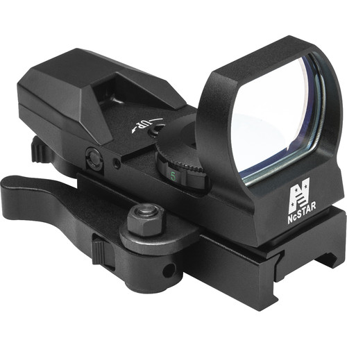 NcSTAR 1x33 Red Dot Reflex Sight with QR Mount (4 Reticles, Black)