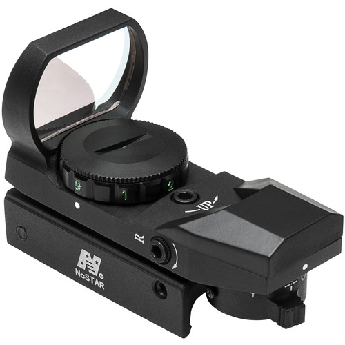 NcSTAR Red & Green Dot Reflex Sight (4 Reticles, Weaver Base, Black)