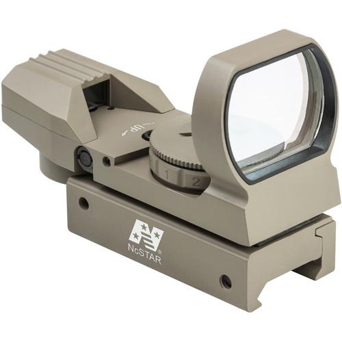 NcSTAR Red & Green Dot Reflex Sight (4 Reticles, Weaver Base (Tan)