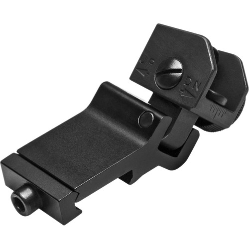 NcSTAR 45-Degree Offset Flip-Up Rear Sight for AR-15