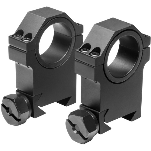 "NcSTAR 30mm HD Riflescope Rings with 1"" Inserts (High)"