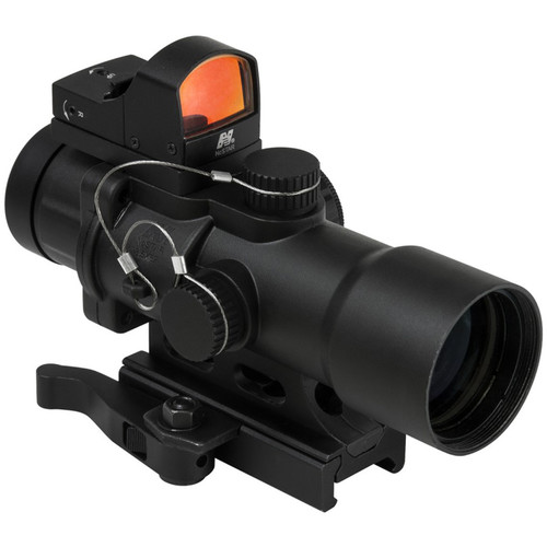 NcSTAR 3.5x32 CPO Riflescope with Micro Red Dot Sight (Blue/Green Illuminated Urban Tactical Reticle)