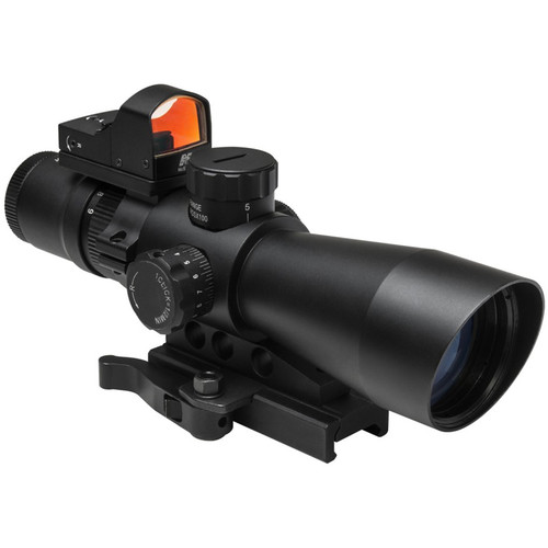 NcSTAR 3-9x42 Ultimate Sighting System Generation II Riflescope with Micro Dot Optic (Blue/Green Illuminated Mil-Dot Reticle)
