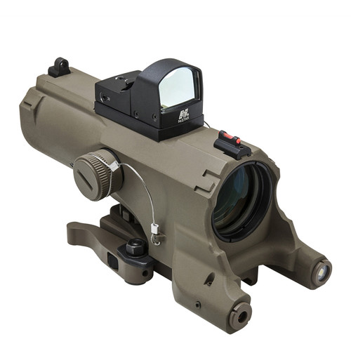 NcSTAR ECO 4x34 Prismatic Scope with Micro Green Dot Sight (Tan)
