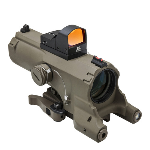 NcSTAR 4x34 ECO Laser LED Riflescope with Micro Red Dot Reflex Optic