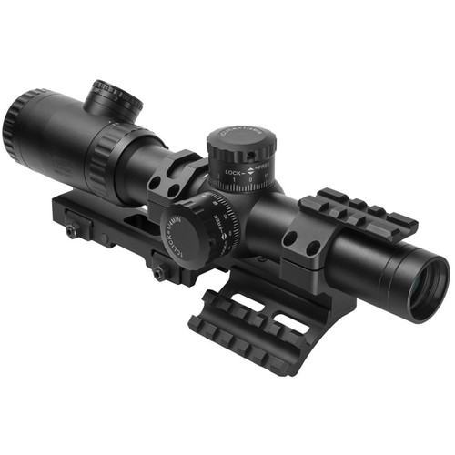 NcSTAR 1.1-4x24 Evolution Series Riflescope with SPR Mount Combo (Blue/Green Dot Illuminated Reticle)