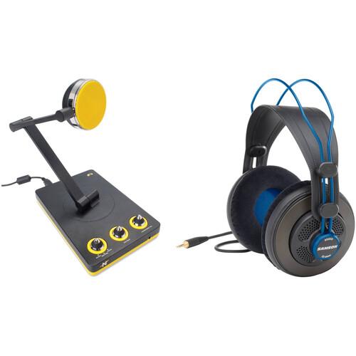 Neat Microphones Bumblebee Professional Cardioid Desktop USB Microphone Kit with Headphones