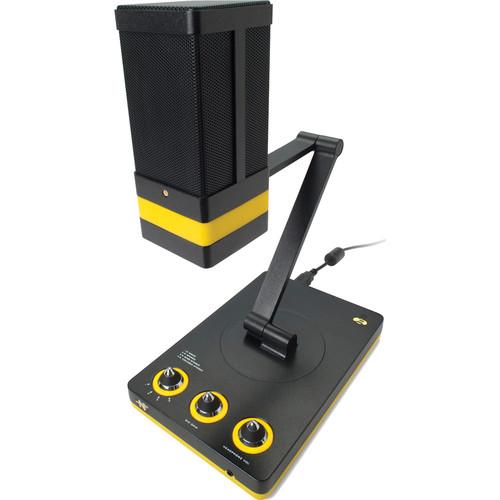 Neat Microphones Beecaster Quad-Capsule Desktop USB Mic with JBL LSR305 Studio Monitors Bundle
