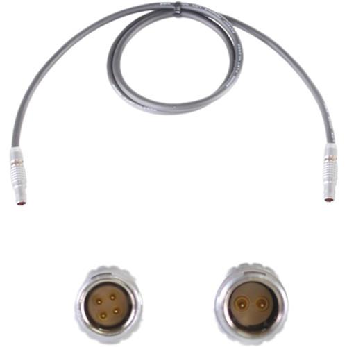 "Nebtek Red 4-Pin LEMO Male to 2-Pin LEMO Bolt Power Cable (24"")"