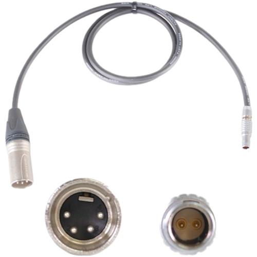 Nebtek 4-Pin XLR Male to 2-Pin LEMO Bolt Power Cable (3')