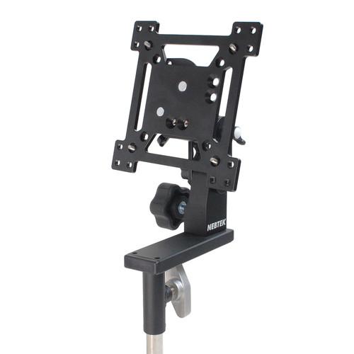 "Nebtek Vesa Pro Ball Lock Mount For 13"" Monitor with Portrait/Landscape Rotation And Offset Balance Plate"