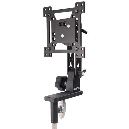 "Nebtek Vesa Pro Ball Lock Mount For 17"" Monitor with Portrait/Landscape Rotation And Offset Balance Plate"