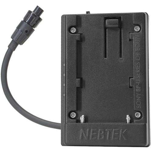 Nebtek Pass-Through DV Battery Adapter with Sony BPU Faceplate for AJA Mini Converter