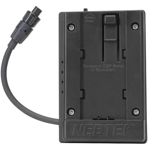 Nebtek 12V DV Battery Adapter with Panasonic Faceplate for AJA Mini Converter