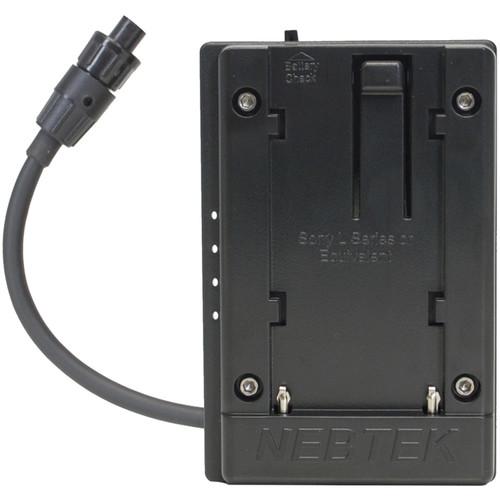 Nebtek 12V DV Battery Adapter with Sony L Faceplate for AJA Mini Converter