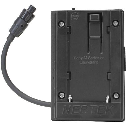 Nebtek 12V DV Battery Adapter with Sony M Faceplate for AJA Mini Converter