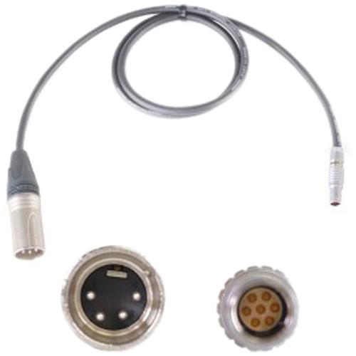 Nebtek XLR 4-Pin Male to 7-Pin Male LEMO MicroLite Transmitter Power Cable