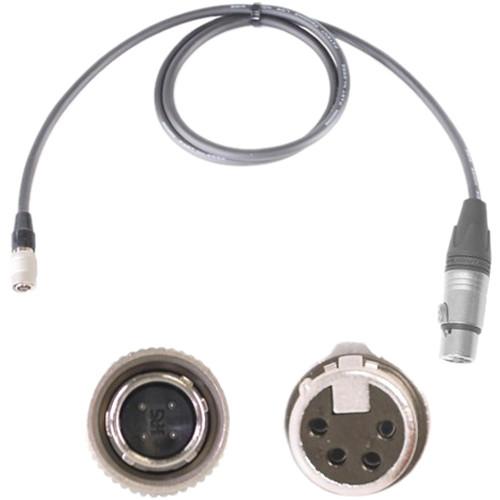 Nebtek 4-Pin Hirose Male to 4-Pin XLR Female Power Cable (Sony to XLR, 3')