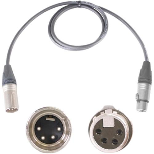 Nebtek 4-Pin XLR Male to 4-Pin XLR Female Power Cable (XLR to XLR, 8')