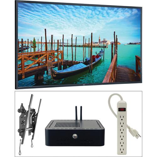"NEC 55"" Digital Signage Kit with Mvix Xhibit and Landscape Wall-Mount"