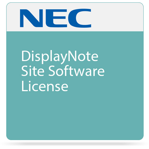 NEC DisplayNote Site Software License