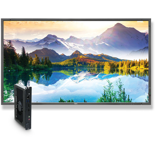 "NEC 90"" Digital Signage Solution with E905 Display and OPS-APIC-PS Single-Board Computer"