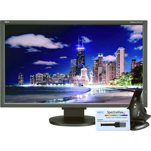 "NEC MultiSync EA275UHD-BK-SV 27"" 4K UHD sRGB IPS Monitor with SpectraViewII"