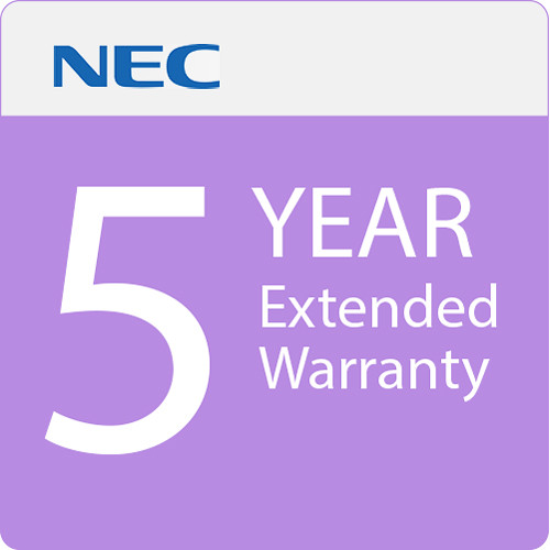 NEC 5-Year Extended Warranty for Select Displays (Download)