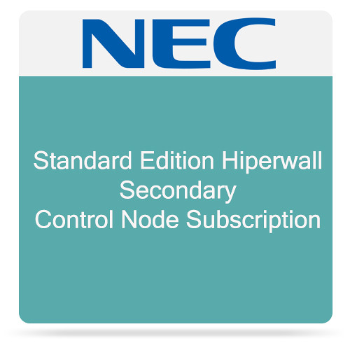 NEC Standard Edition Hiperwall Secondary Control Node Subscription